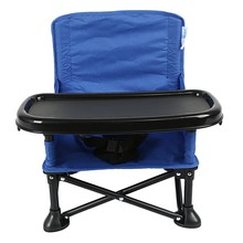 Portable Baby Booster Seat Folding Baby Chair With Tray And Carrying Bag High Chair Camping Travel Baby Seat(China)