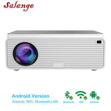 Salange Q9 Android Projector Full Hd 1080P Led Projector 6500 Lumen Voor Home Theater Projector Wifi Hdmi Usb Beamer ondersteuning 4K