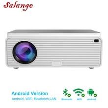 Salange Q9 Android Projektor Full HD 1080P Led Projektor 6500 Lumen für Heimkino Projektor Wifi HDMI USB Beamer unterstützung 4K