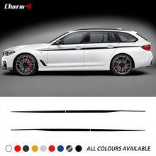 Autocollant M Performance à rayures latérales, 2 pièces, 6 couleurs, pour BMW G30 G31 série 5, accessoires de style
