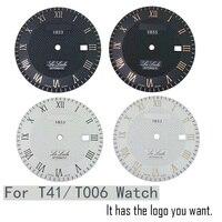 적용 가능한 시계 액세서리 T41/T006407B 오리지널 리터럴 다이얼 케이스 남성용 기계식 시계 L164/264