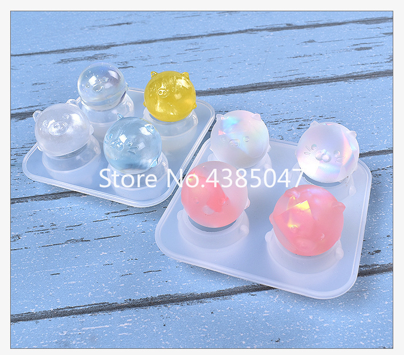 Frosted Or Bright Chicken And Pig Jewelry Mold Art Decoration Jewelry Accessories Dried Flower UV Resin Jewelry Tools