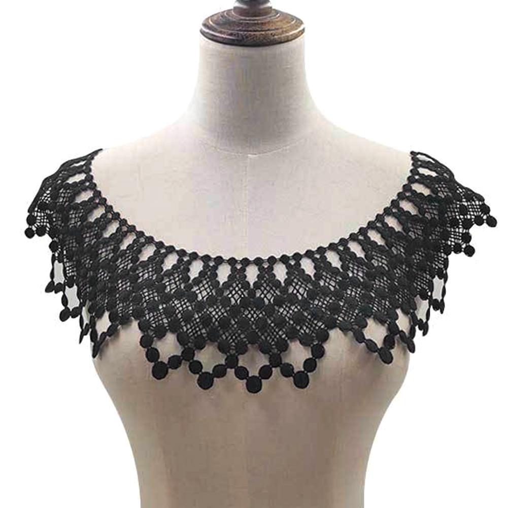 Hollow Lace DIY Embroidery Neckline Collar Trim Clothes Sewing Applique Decor Lace Neckline Collar Garment Accessories Scrapbook