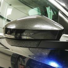 Cubierta de espejo retrovisor lateral para coche Skoda, reemplazo de tapas de espejo lateral para Skoda Octavia Mk3 A7 5E (aspecto de carbono) 2014 2015 2016 2017 2018 2019 para VW T-ROC