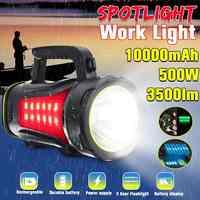 200/300/500W projecteur Portable USB intégré Rechargeable projecteur LED lanterne lampe de poche étanche Spot lampe