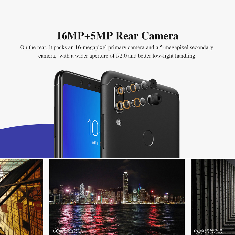 """H1b0699f36b92413484a874f6050e2201y lenovo k5 pro 6G 128G Global ROM  ZUI 4G LTE 5.99""""inch Mobile Phone Snapdragon Octa-core Dual Back"""