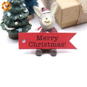 50 шт рождественские бумажные бирки серии Счастливого Рождества DIY Поделки Висячие бирки упаковочные материалы для подарков этикетки для ро...