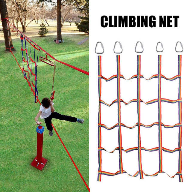 Climbing Net for Kid Portable Outdoor Climbing Frame Net for Daily Sports Entertainment Training AN88