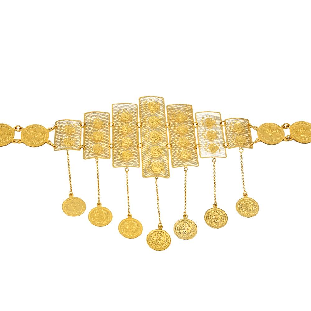 Anniyo Wedding Party Belts Chain Turkish Coins Belly Chains Belt Jewelry Middle East Kurdistan Iran Arab Syria Gifts #017001