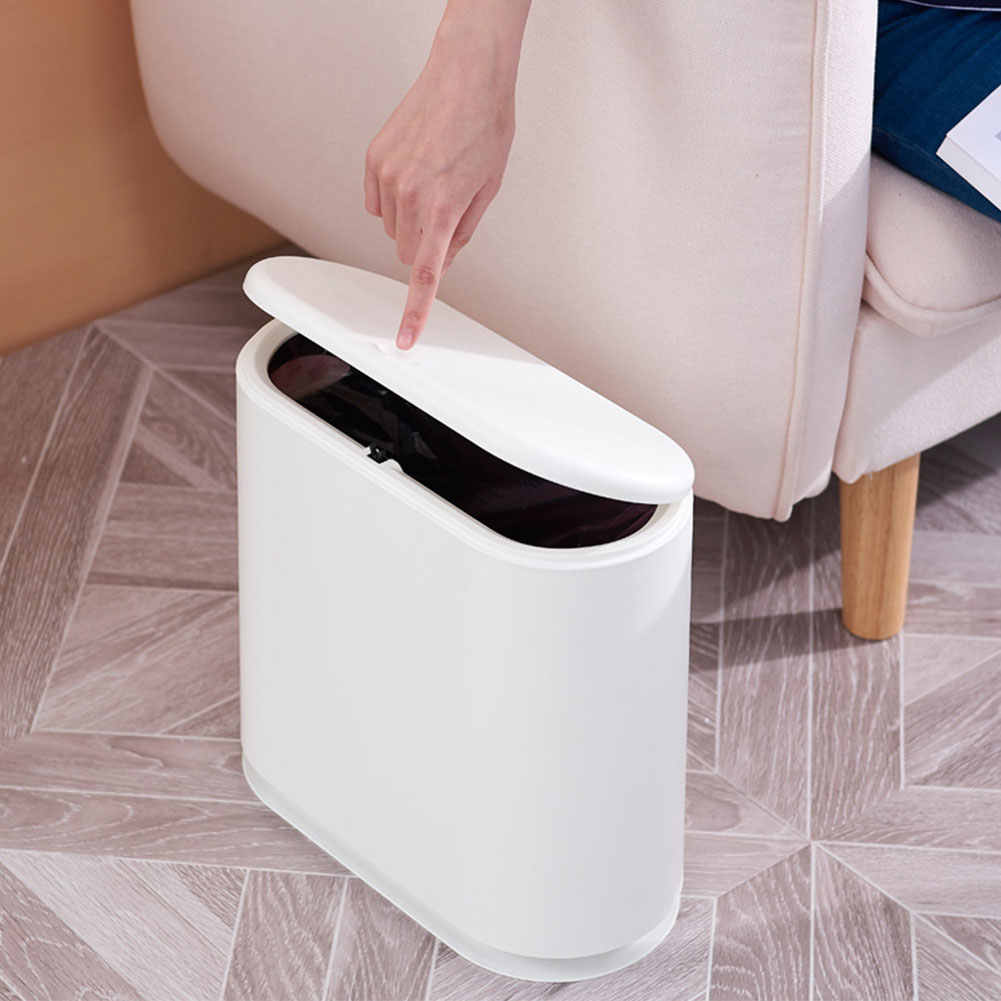 Novo Tipo Pressionando Plástico Lata de lixo de Lixo Caixote do Lixo do lixo Bin Resíduos Forkitchen J30 Suave Abrir E Fechar Do Escritório Para Casa Em Silêncio