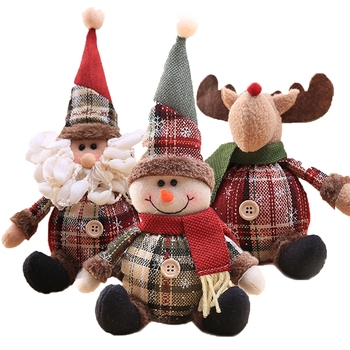 Santa Claus Doll Merry Chirstmas Decor for Home Table Doll Christmas Ornaments Snowman Elk Navidad Gift 2020 Happy New Year 2021 happy new year 2021 foil balloon set 2020 merry christmas eve party decorations for home ornaments santa claus tree xmas snowman