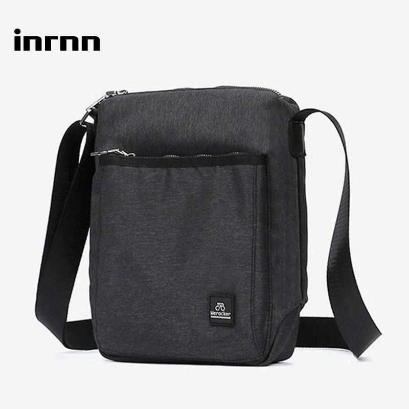 Inrnn Fashion Men's Messenger Bag High Quality Waterproof Shoulder Bag Casual Male Business Crossbody Bags Men Small Travel Bag