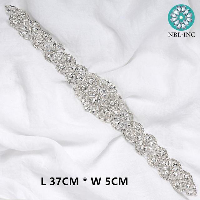 (1PC) Bridal belt diamond wedding dress belts with crystals rhinestones wedding sash applique for wedding dress WDD0152-WDD0403 3