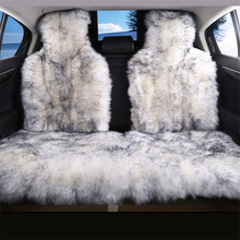 3pc the back Long Hair car seat cover,Natural fur sheepskin car seat covers universal