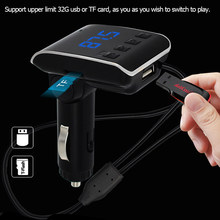 FM Transmitter Aux Modulator BT 4.2 + EDR Handsfree Car Kit Car Audio MP3 Player Micro USB & 8-pin Charging Car RV ATV Charger(China)