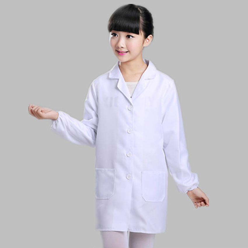 Girs Doctor Custome Made Children Uniform Carnival Halloween Kids Girls Cosplay Costumes Lab Dentist Coat Dance Wear Performance