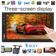 Autoradio 2Din 7 zoll Touch Screen Auto Stereo MP5 Player FM Radio Bluetooth Kopf Einheit Fernbedienung + Cam(China)