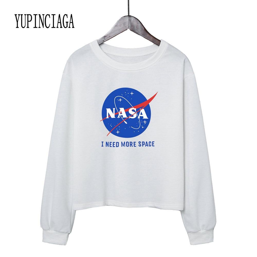 YUPINCIAGA Women's Round Neck Cropped Sweatshirt Crop Hoodies O-Neck Long Sleeve Short Pullovers Girls Teens Letter Print Hoodie