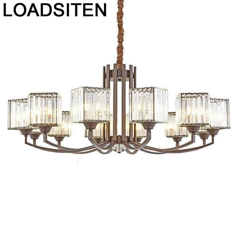 Nordic Design Touw Crystal Lampara Colgante Lustre E Pendente Para Sala De Jantar Suspension Luminaire Suspendu Hanging Lamp