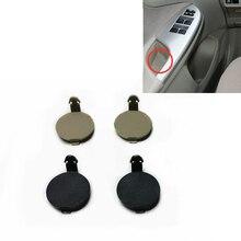 Couvercle à vis de poignée intérieure daccoudoir de porte, petit bouchon décoratif rond BEIGE noir pour Toyota Corolla 2007 – 2013