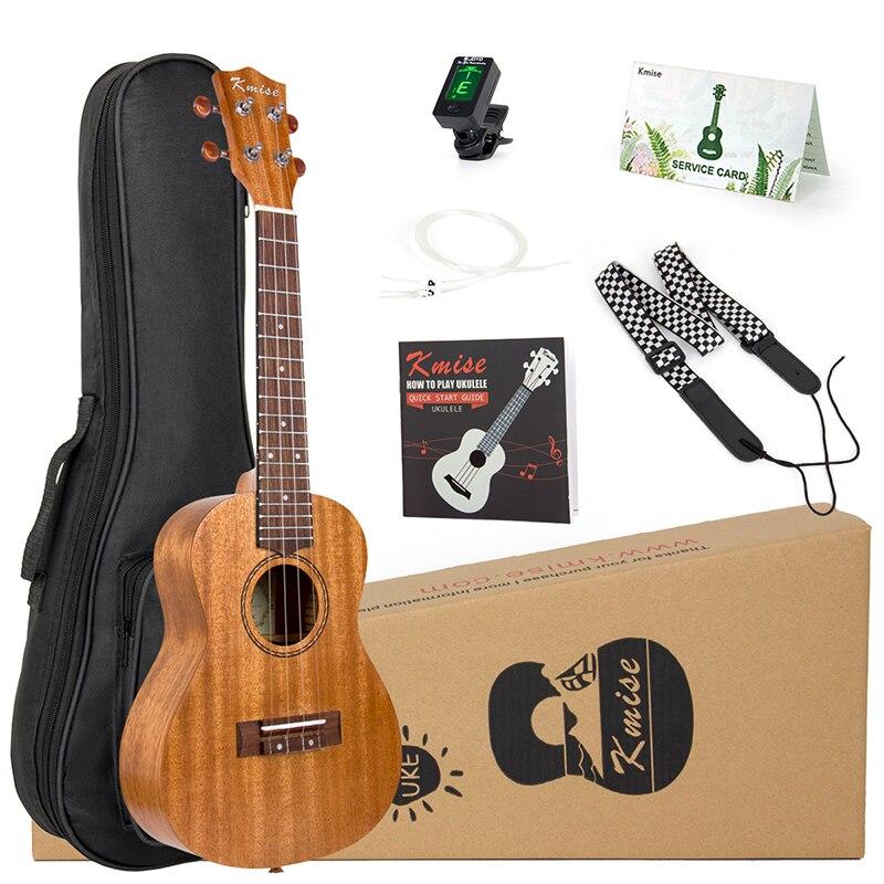 Kmise Ukulele Concert Soprano Tenor комплекты из красного дерева 21/23/26 дюймов Гавайские гитары для начинающих + чехол с ремешком для сумки и тюнера|fret|   | АлиЭкспресс
