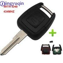 Transponder de chave de carro com 2 botões, chip id40 para vauxhall opel astra vectra zafira hu43/hu100/ym28/lâmina hu46 opcional