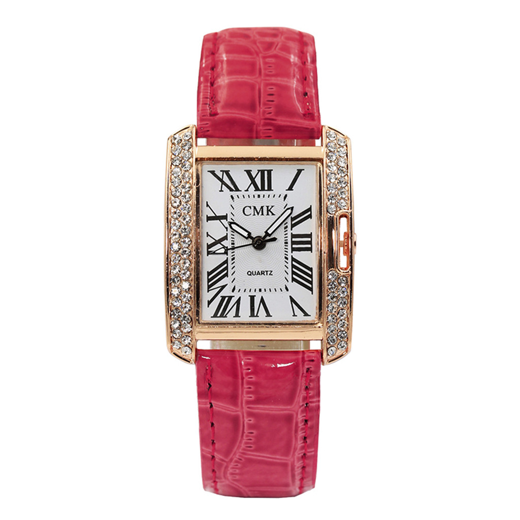 Ladies Leather Belt Analog Quartz Square Korean Watch Female Female Watches Gifts For Women Watch Woman Watch Casual Dress Clock