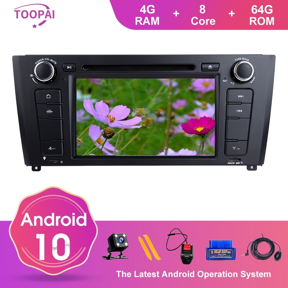 TOOPAI For BMW I20 1 E88 E82 E81 E87 2004 2005 2006-2011 Auto Radio Stereo GPS Navigation Car Multimedia Player 8Core 4GB 64GB image