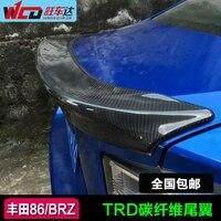 Apto para TOYOTA 86 Subaru BRZ fibra de carbono TRD pequena cauda/cauda lâmpada decoração/spoiler traseiro guia de ar