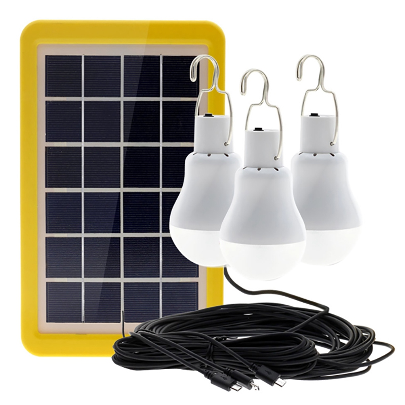 TOP!-Solar Light Lamp Led Bulb Outdoor 1 To 3 Solar Lamp Portable Energy Fishing Garden