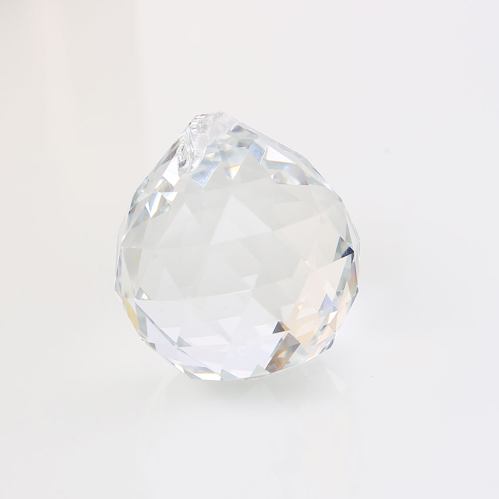 40mm Clear Glass Crystal Ball Prism Chandelier Suncatcher Lamp Pendant