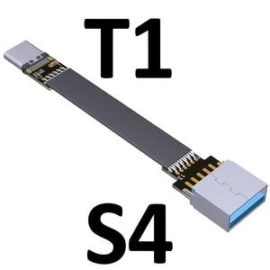 Image 2 - USB Tipo C Nastro Cavo FPC Cavo Piatto Cavo di schermatura EMI USB 3.0 Tipo C 90 gradi Angolo di Connettore verso il basso 5 centimetri 3m USB 3.1