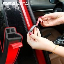 Уплотнительная лента для автомобильной двери, резиновые уплотнители, шумоизоляция, звукоизоляция, уплотнитель для автомобильной двери, защита багажника, наклейки на края