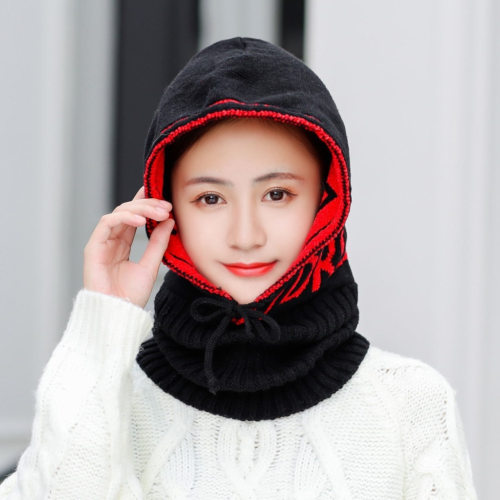 Winter Warm Knitted Hat Beanie Men Scarf Skullies Beanies Winter Hats For Women Men Caps Gorras Bonnet Mask Brand Hats