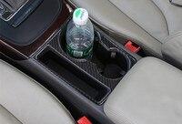 Carbon Fiber Car Cup Holder Decor Frame Cover sticker For Audi A4 A5 Sline 09 16