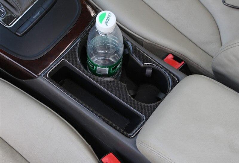 Autocollant de couverture de cadre de décor de support de verre de voiture de Fiber de carbone pour Audi A4 A5 Sline 09-16