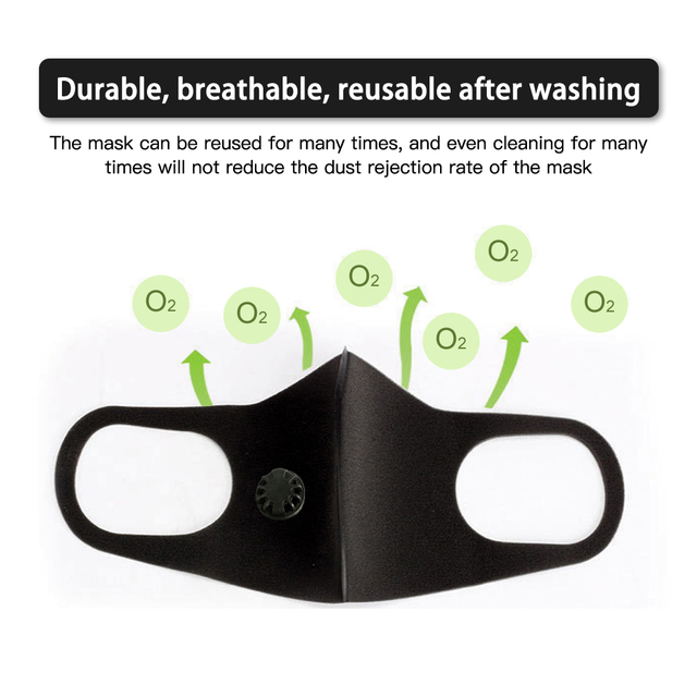 VIP 001 Reusable anti-flu dust allergy mask PM2.5 single and double air valve 5