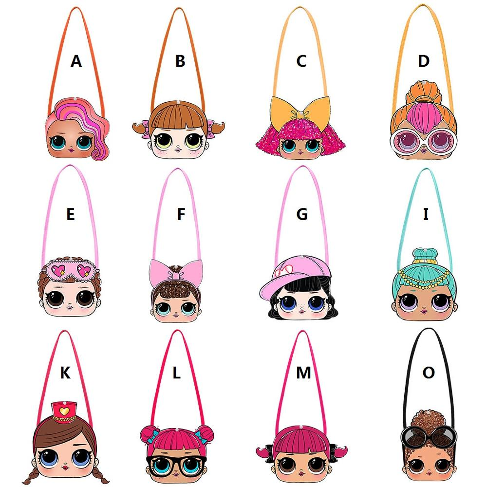 L.O.L SURPRISE! Crossbody Bags Girl Mini Shoulder Bags Cute LOL Dolls Messenger Bag 3D Cartoon Small  Wallet Wild Travel Bags