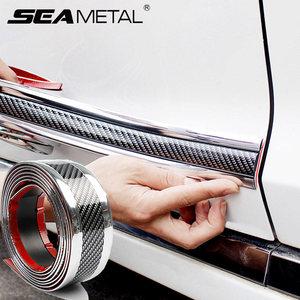 Image 1 - Auto Bumper Stripรถสติกเกอร์คาร์บอนไฟเบอร์ฟิล์มGlossyห่อฟิล์มAnti Collisionป้องกันประตูรถจัดแต่งทรงผมอุปกรณ์เสริม