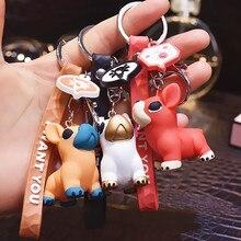 2020 Cartoon Dog Key chain Pendant Creative Cute Doll Keychains Women Bag Car key Ringchildrens Gift toys Resin