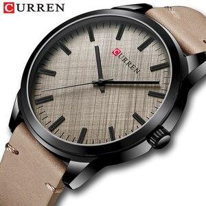 Спортивные мужские часы CURREN 2020, Классические деловые простые наручные часы с кожаным ремешком для мужчин, военные кварцевые часы, мужские ч...