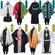 Hot Koop Anime Demon Slayer: Kimetsu Geen Yaiba Tanjirou Kamado Nezuko Cosplay Vrouwen En Mannen Kimono Cosplay Kostuum Sets