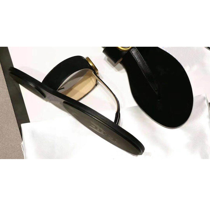 2019 Hot Selling Luxury Brands Woman Flip Flops Genuine Leather Woman Fashion Flat Slippers Quality Flats Solid Sandal Slippers