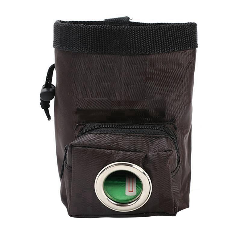 Сумка для тренировок собак, для питомцев, тренировочная сумка для прогулок, для собак, для улицы, переносная сумка для закусок, поясная сумка - Цвет: Brown