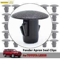 Protectores de salpicaduras Clips delantal Clip de retención para Toyota 4Runner RAV4 Land Cruiser Lexus LX470 LX570 aletas de barro OE #90467-10186