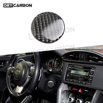 For Toyota GT86 FT86 ZN6 For Subaru BRZ 2013-2017 Carbon Fiber Steering Wheel Stalk Unblock Power Button Cover Sticker image