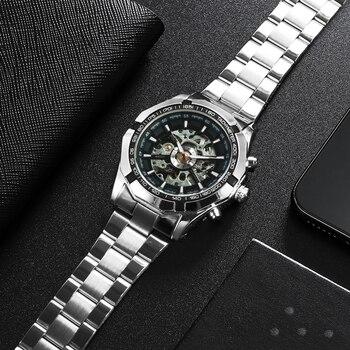 Winner Watch Men Skeleton Automatic Mechanical Watch Gold Skeleton Vintage Man Watch Mens FORSINING Watch Top Brand Luxury 4