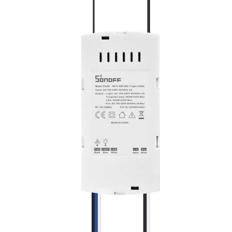 SONOFF 433 МГц RF мост пульт дистанционного управления Лер Wi-Fi потолочный вентилятор и светильник управление Поддержка с помощью приложения Ewelink товары для умного дома
