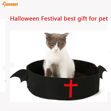 Funny pet cat nest bed soft warm cozy cave Puppy Kennel Halloween Festival gift for small dog Blanket beds mats