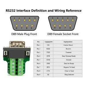 Image 5 - DB9 ריתוך משלוח זכר תקע שקע נקבה אבזם פגז ערכת RS232 9 פינים מחבר RS485 RS422 ממשק d Sub9 מתאם